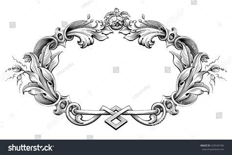 royalty free vintage baroque victorian frame border