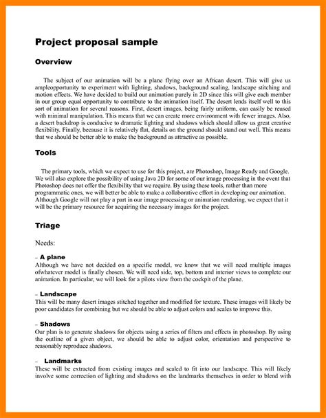 cover letter for a project proposal travelsouth us