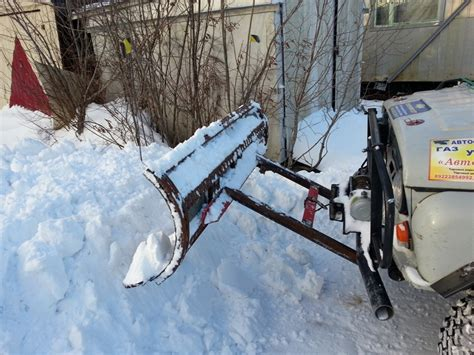 Отвал для снега на уаз своими руками