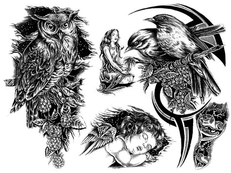 transparent tattoo designs with transparent background img23 171 black and white