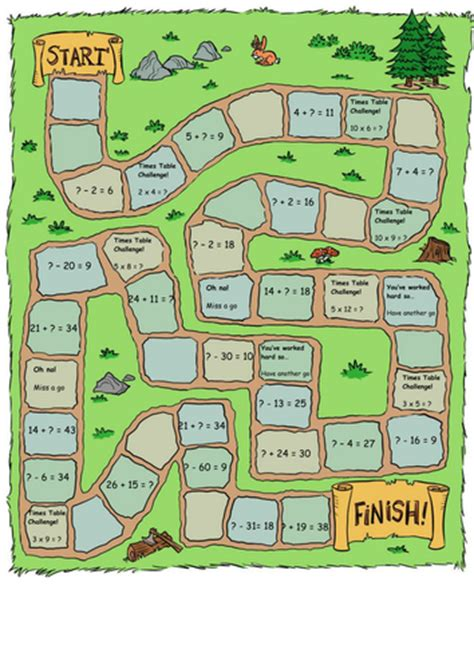 printable subtraction board games ks1 addition and subtraction missing number board game to
