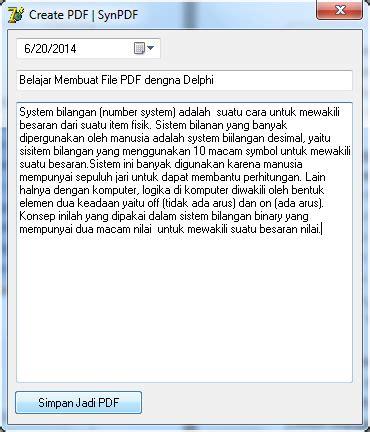 membuat qr code dengan delphi cara membuat file pdf dengan delphi delphi tutor