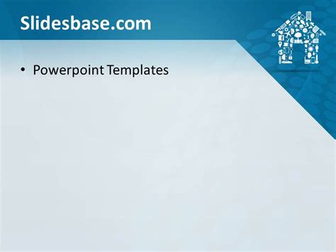 house shape powerpoint template slidesbase