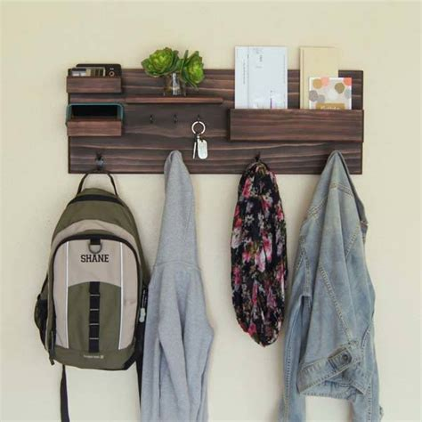 entryway wall organizer the handmade entryway wall organizer with coat and key