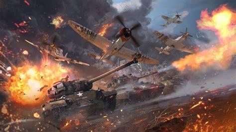 fonds decran guerre tonnerre chars avions  hd