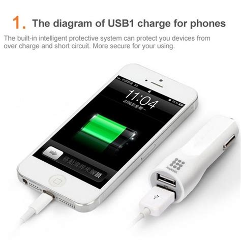 Charger 31 A Dual Usb Dua Micro Usb Nyambung 1 Kabel haweel 3 1a dual usb car charger for mobile phones tablets