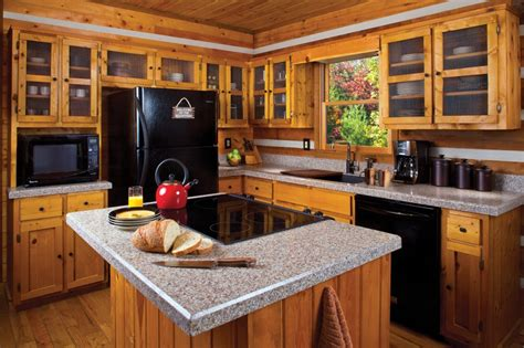 kitchen cabin pairing rustic kitchen cabinets with granite countertops