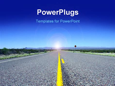 powerpoint road template powerpoint presentation templates road powerpoint
