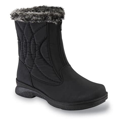 athletech s quade black winter boot wide width