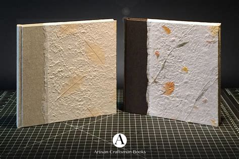 A Paper Book Cover - adding handmade paper to book covers artisan craftsman books