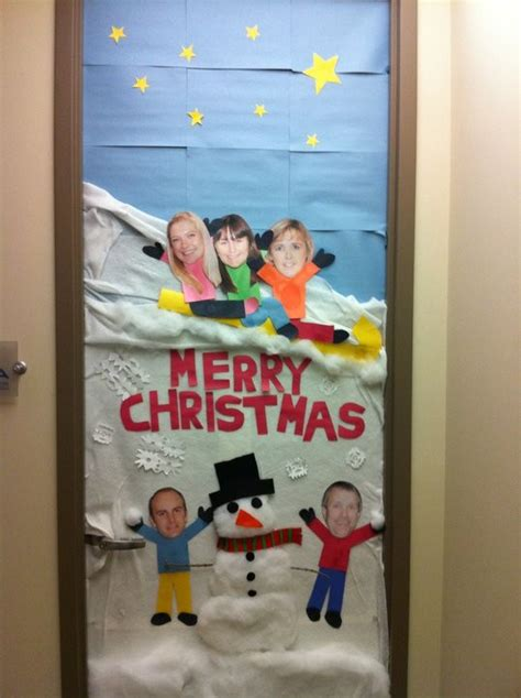 office christmas door decorating contest door decorating happy or hungry