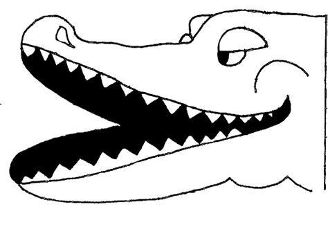 printable alligator mask template