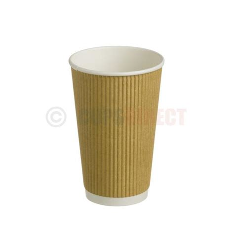 kraft cups double wall ripple coffee cups and lids kraft ripple hot cup range cupsdirect