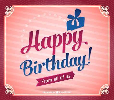 Happy Birthday Vintage Design | vintage happy birthday design vector free download