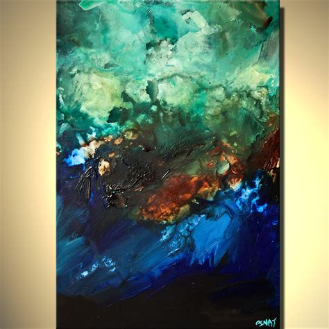 blue abstract painting blue green abstract paintings www imgkid the image