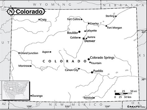 Colorado Map Outline by Colorado Outline Map By Maps From Maps World S Largest Map Store