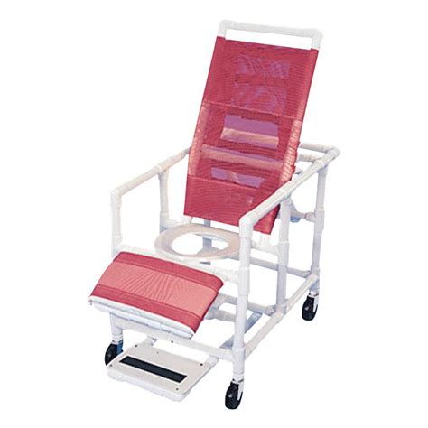 reclining commode chair healthline reclining shower commode chair with legrest and