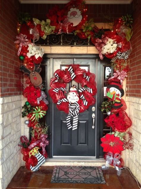 Front Door Christmas Garland Merry Christmas D Pinterest Front Door Garland