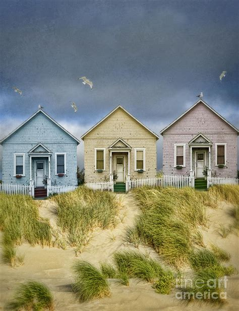 Coast Cottages by Row Of Pastel Colored Cottages Photograph By