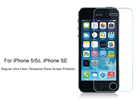 Tempered Glass Iphone 5 5s Non Packing 2xregular ultra clear tempered glass screen protector for