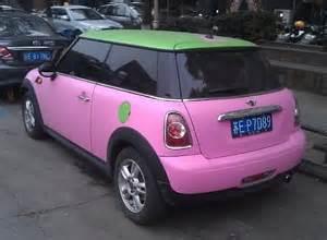 Pink Mini Cooper Pink Mini Cooper One In China Mini Cooper