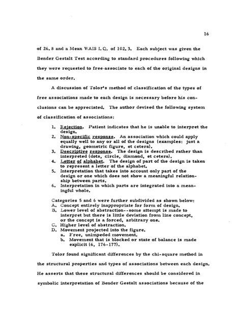 bender gestalt ii sle report stimulus values of the bender visual motor gestalt test