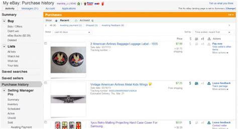 ebay history ebay purchase history gummigranulat mikroplast