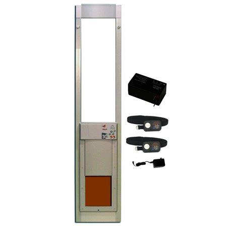 Electronic Pet Door For Sliding Glass Door High Tech Pet 8 In X 10 In Powerpet Electronic Sliding Glass Pet Door Deluxpak With Free