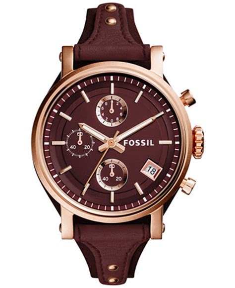 Jam Tangan Fossil Original Es3838 Original Boyfriend Navy Leather fossil s chronograph original boyfriend leather 38mm es4114 watches