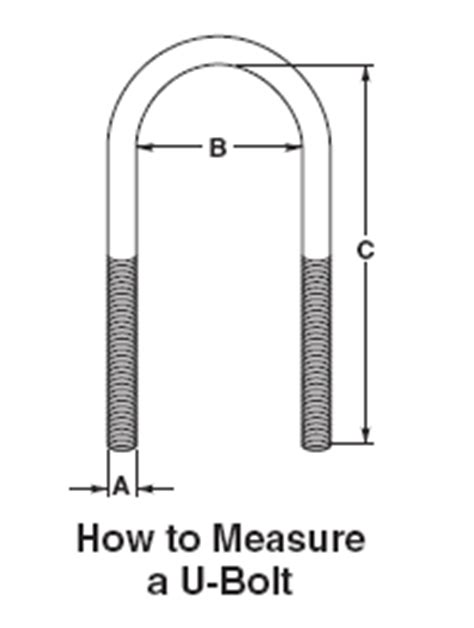 Drawing U Bolt by How To Measure A U Bolt Ww Friedline Inc Somerset Pa