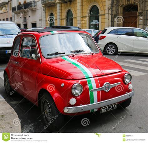 fiat or italian fiat 500 in bari italy editorial image image of city