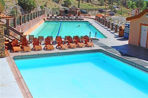 the soaking pool at mount princeton springs resort