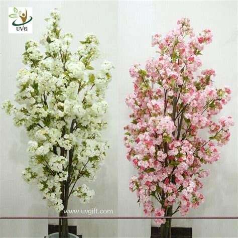 small tree centerpieces uvg chr089 artificial white cherry blossom trees small bonsai wedding centerpieces