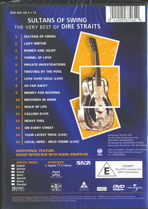 Dire Straits Best Of by Dire Straits Knopfler Dvd The Best Of Dire