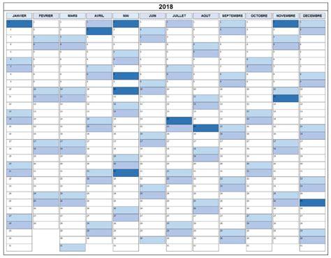 calendrier 233 e 2018 jours f 233 ri 233 s 224 imprimer