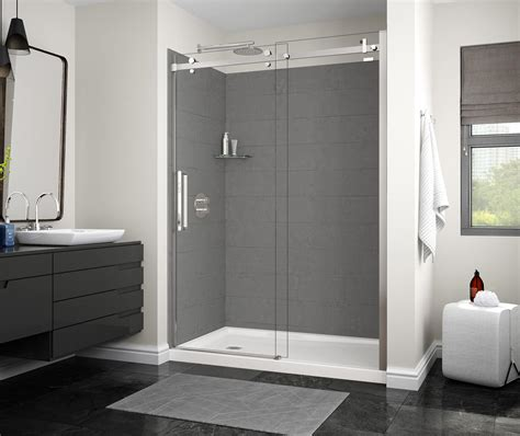 utile factory sleek alcove shower maax
