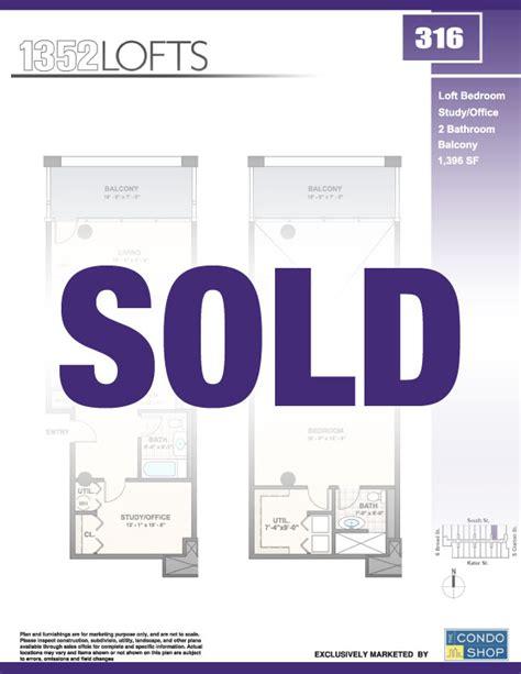 Floor Plans For Sale Unit 316 1352 Lofts Philadelphia Loft Real Estate For Sale
