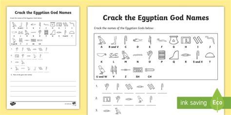 Mukena Corak Kode M3 the hieroglyphs god names worksheet