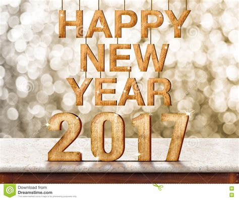 new year wood happy new year 2017 wood texture on marble table with