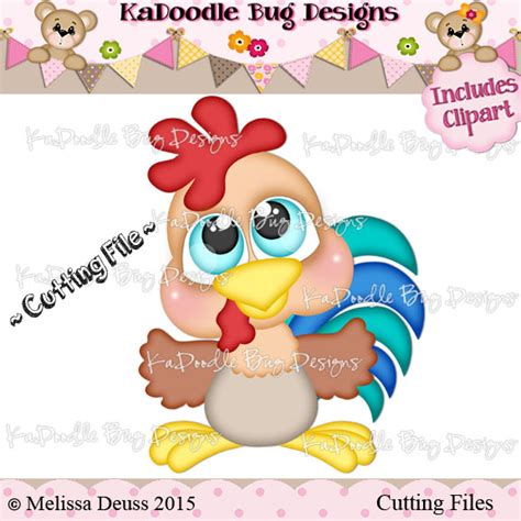 ka doodlebug designs cutie katoodles rooster 1 00 kadoodle bug