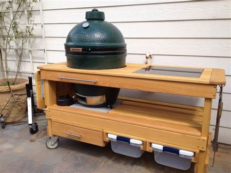 25 best ideas about big green egg table on pinterest big green egg outdoor kitchen large