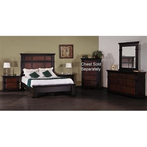 queen master bedroom sets 6pcnl100bristol66 nero lupo 6 piece king bedroom set