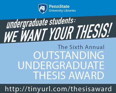undergraduate thesis about education libraries offers 1 250 award for outstanding