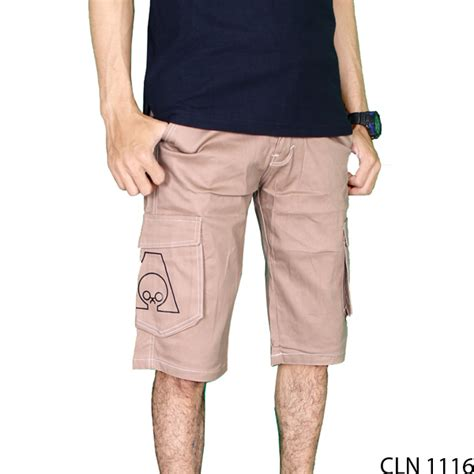 Celana Cargo Pendek Dc Krem celana pendek cargo chino krem cln 1116 gudang fashion