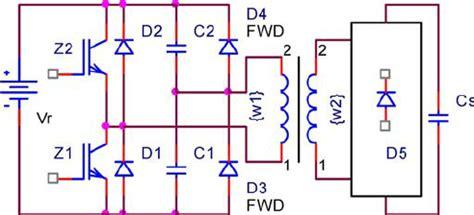 half bridge inverter capacitor design halfbridge inverter with energy dosing capacitors transformer is