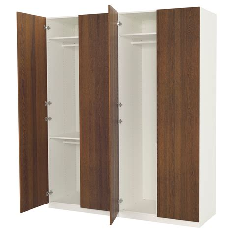 Wardrobe Photos by Pax Wardrobe White Nexus Brown Stained Ash Veneer