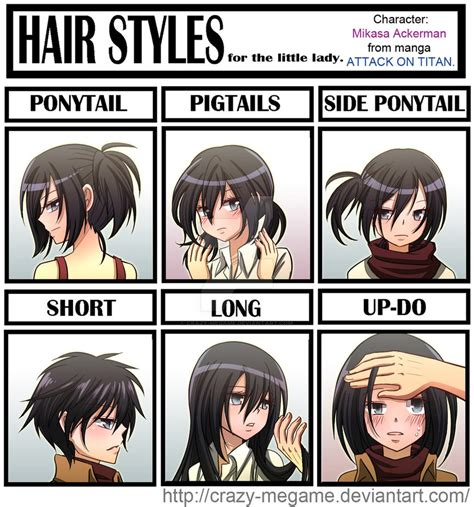 Meme Hairstyles - attack of titan mikasa s hair meme by crazy megame on