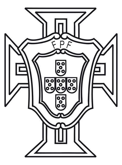 portugal soccer team logo coloring page sketch coloring page