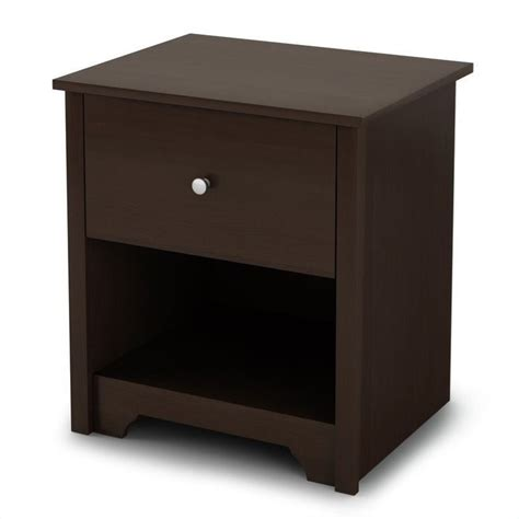 L For Nightstand by South Shore Breakwater Nightstand In Chocolate Finish