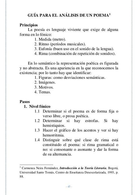poemas de la amistad de 11 silabas cu00 d3mo se comenta un texto literario